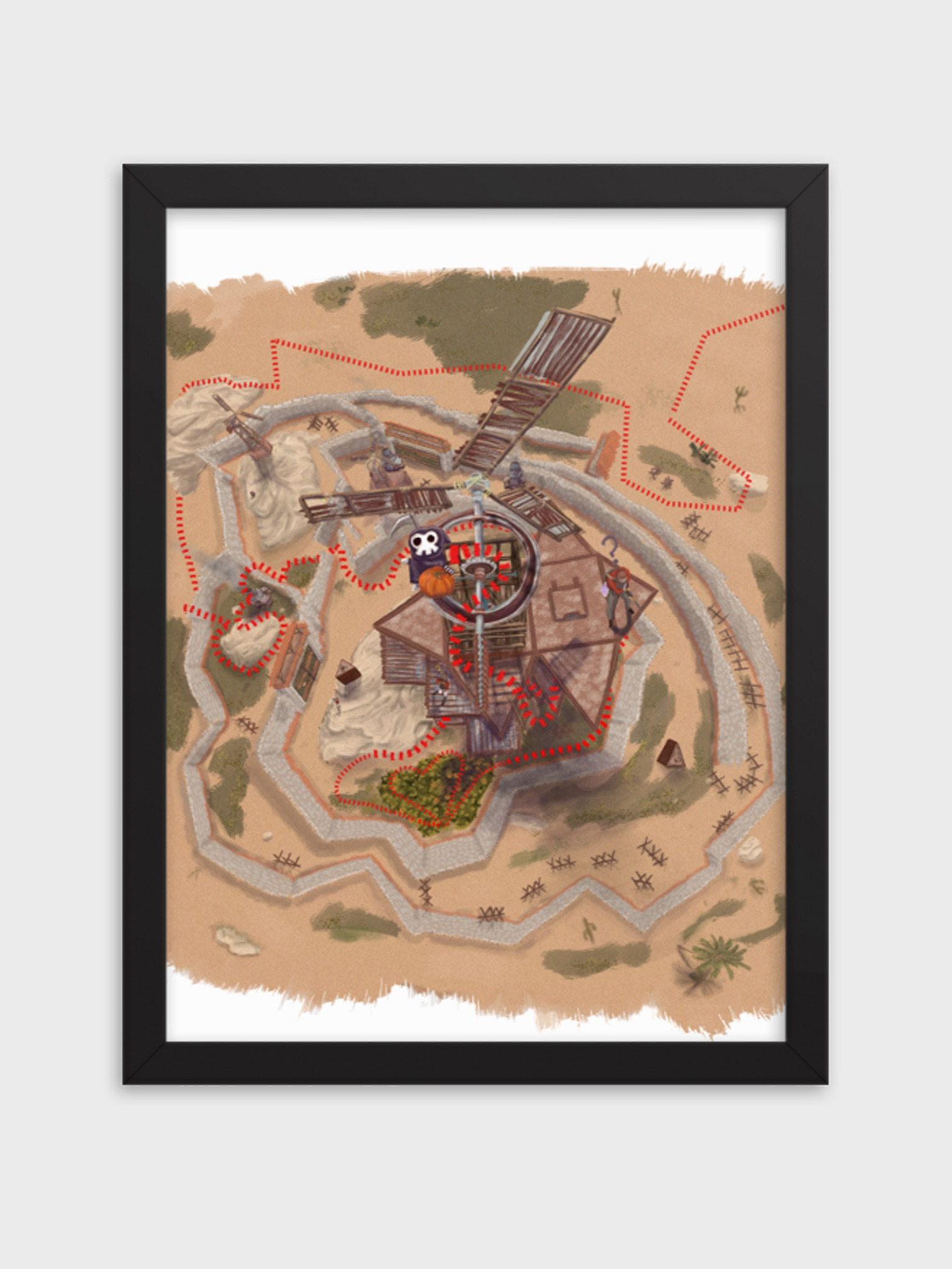 TREASURE MAP POSTER (FRAMED) product image (1)