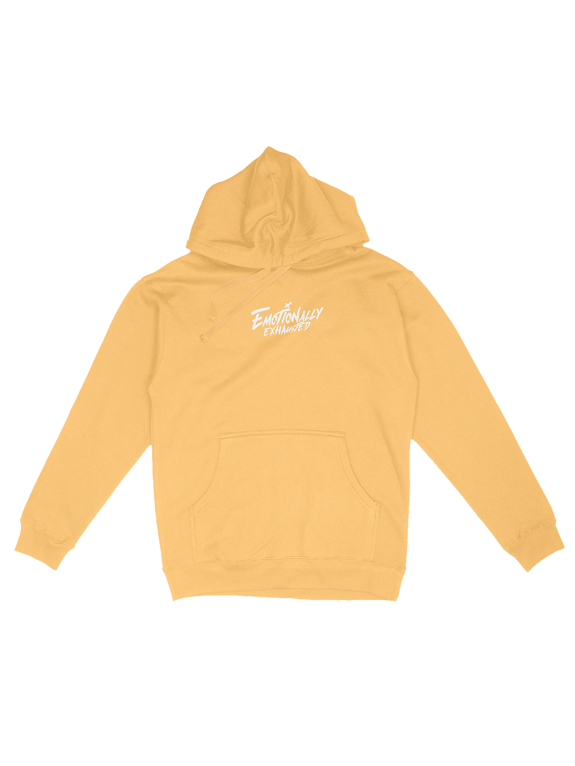 EMOTIONALLY EXHAUSTED PEACH PASTEL HOODIE product image (1)