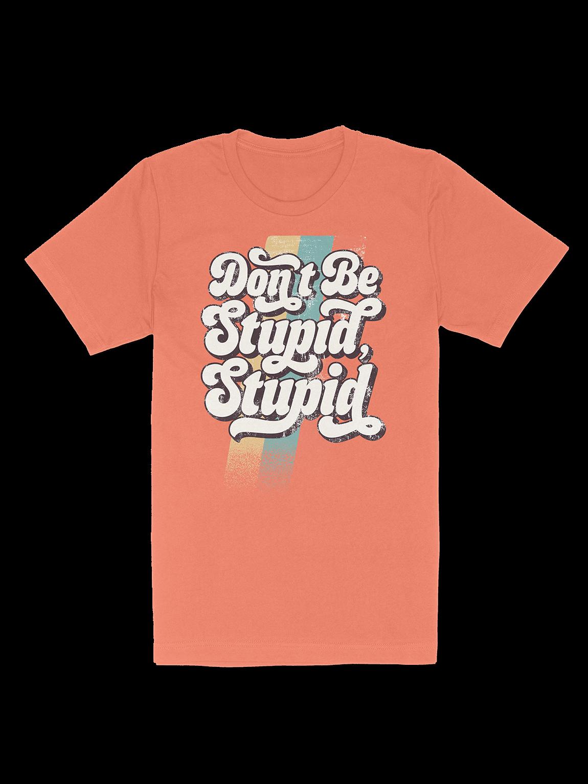DON'T BE STUPID, STUPID ORANGE VINTAGE T-SHIRT product image (1)