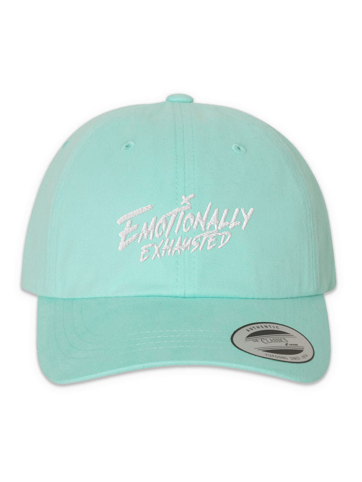 Emotionally Exhausted Mint Pastel Dad Hat product image (1)