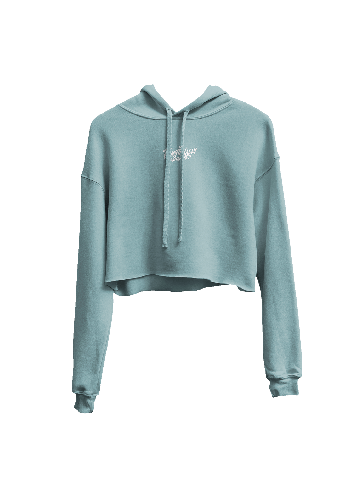 EMOTIONALLY EXHAUSTED PASTEL CROPPED HOODIE product image (1)
