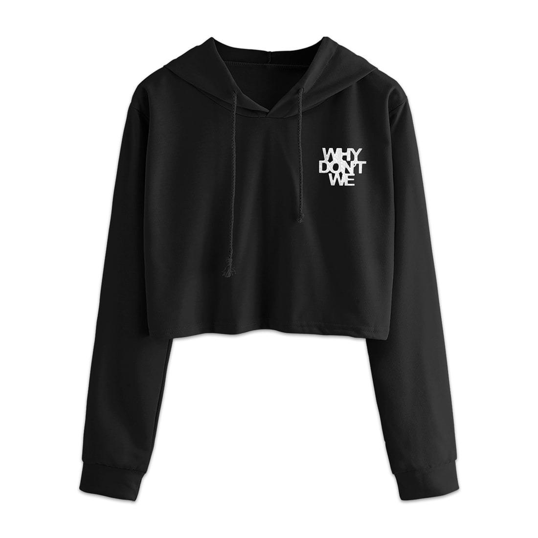 2020 Logo Crop Hoodie (Black) product image (1)